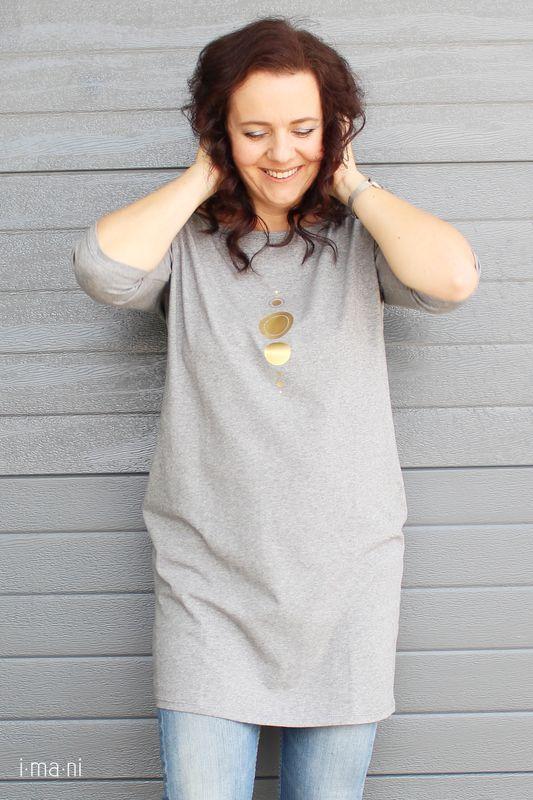 64f02cca6a Dámske šaty s vreckami sivé z úpletu M15 IO18