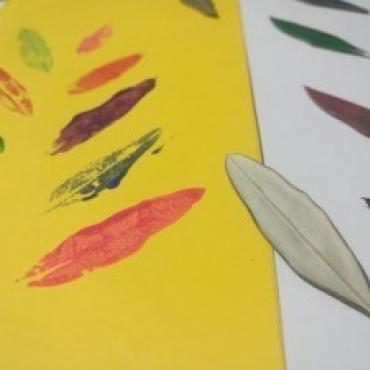 Čary čmáry s deťmi ♥ Odtlačky listov