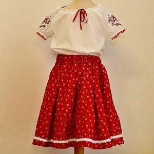 Návod-dievčenská folk blúzka.