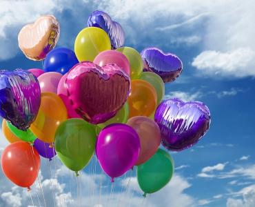 Šťastie je ako balóny