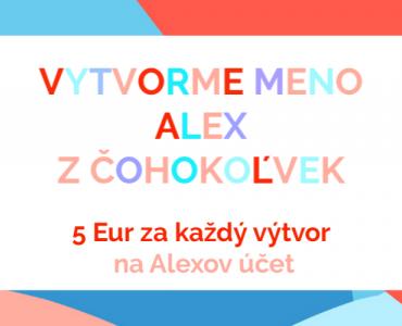 Vytvorme meno Alex z čohokoľvek