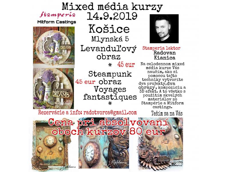 Galéria - Zaujalo nás: Mixed média kurzy 14.9.2019 v Košiciach - 1