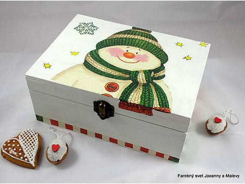 vianočná krabica Snehuliačik