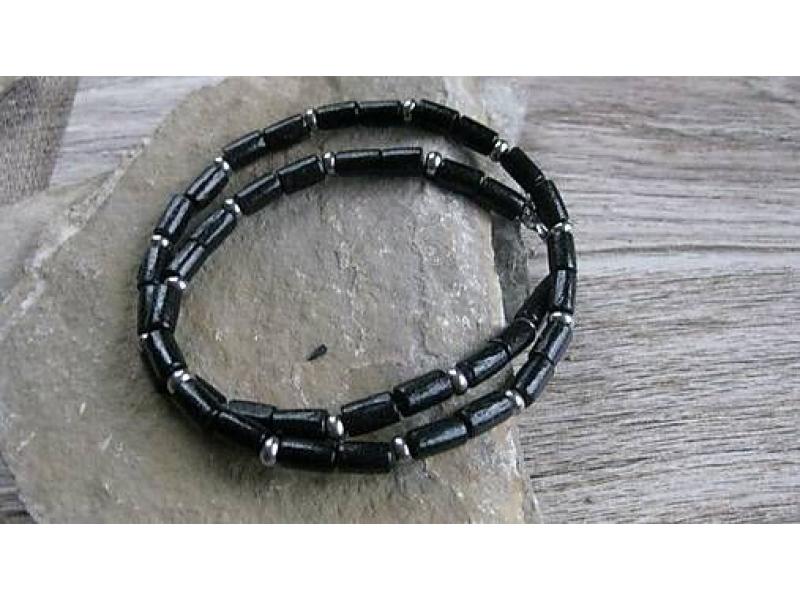 2132) · Pánsky náhrdelník okolo krku drevený - chirurgická oceľ (čierny č.  2132) 09203cfc860