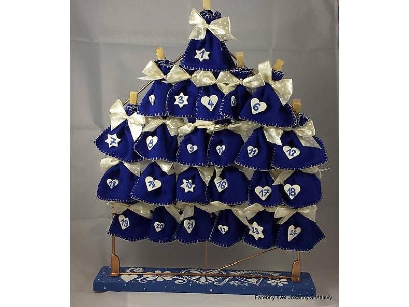 adventný kalendár Modrý