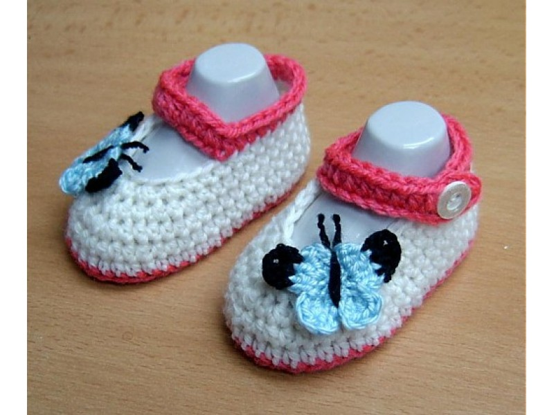 Papučky s motýlikom