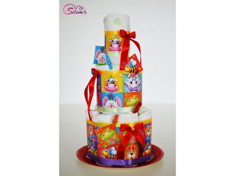 Plienková torta so zvieratkami 2