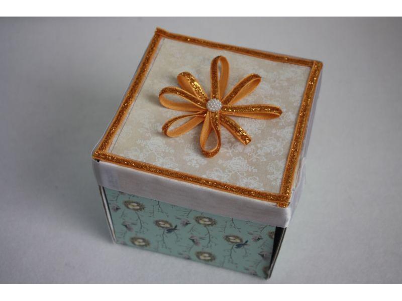 Krabička na peniaze - pozdrav 2v1