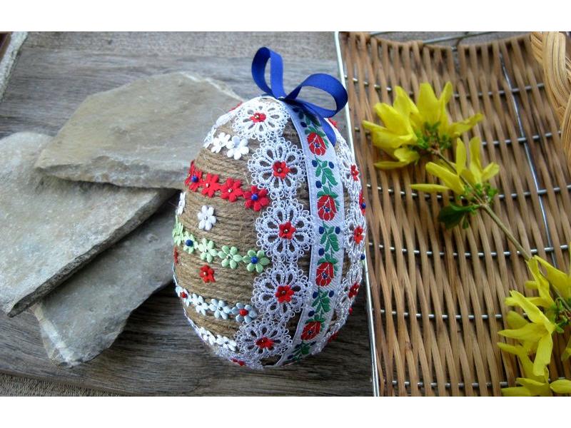 Veľké mega Veľkonočné vajíčko ľudové folk