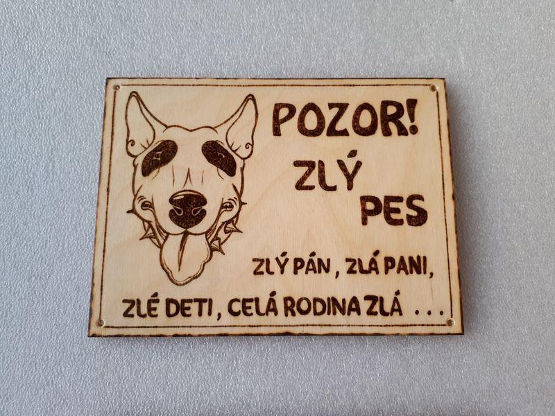 Tabuľka pozor pes XIII.