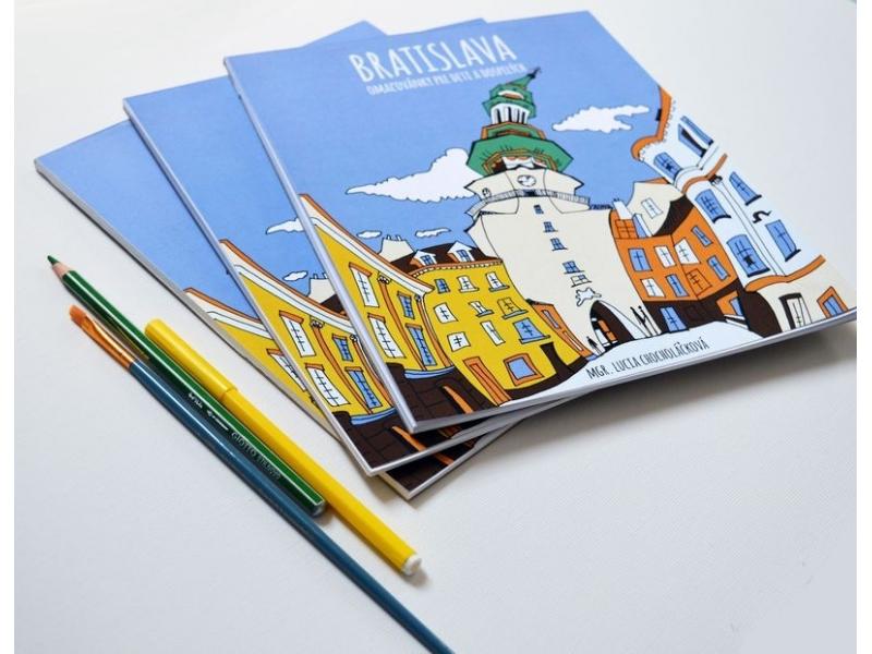 Maľovanka Bratislava s  popisom