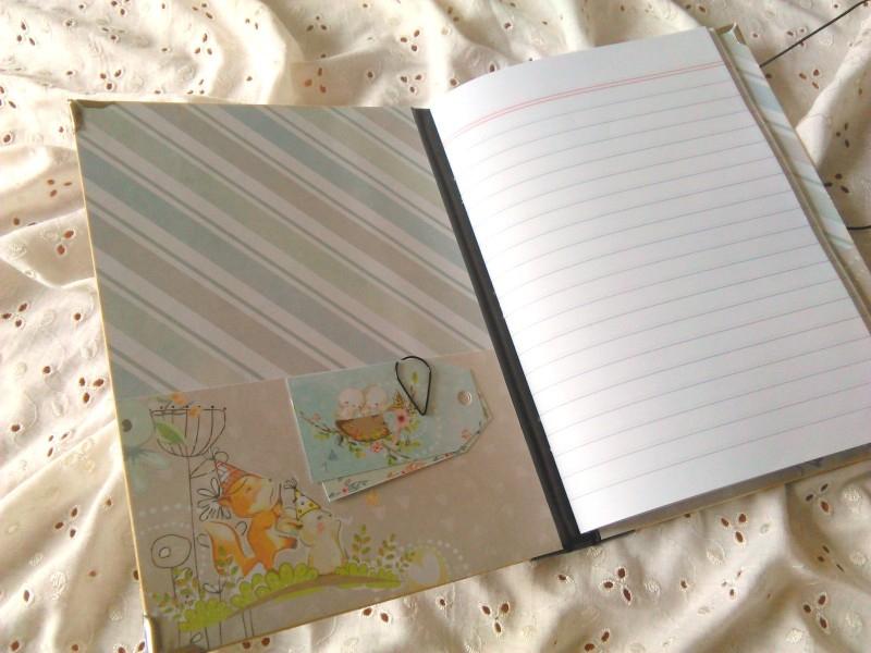Ručne šitý zápisník Hlášky