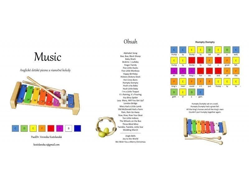 Music- predloha na hru na xylofóne/metalofóne-  Anglické detské piesne a koledy