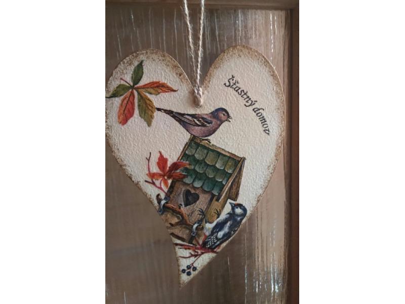 Drevené srdce - Šťastný domov