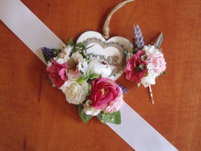 Ružovo-cyklamenový opasok