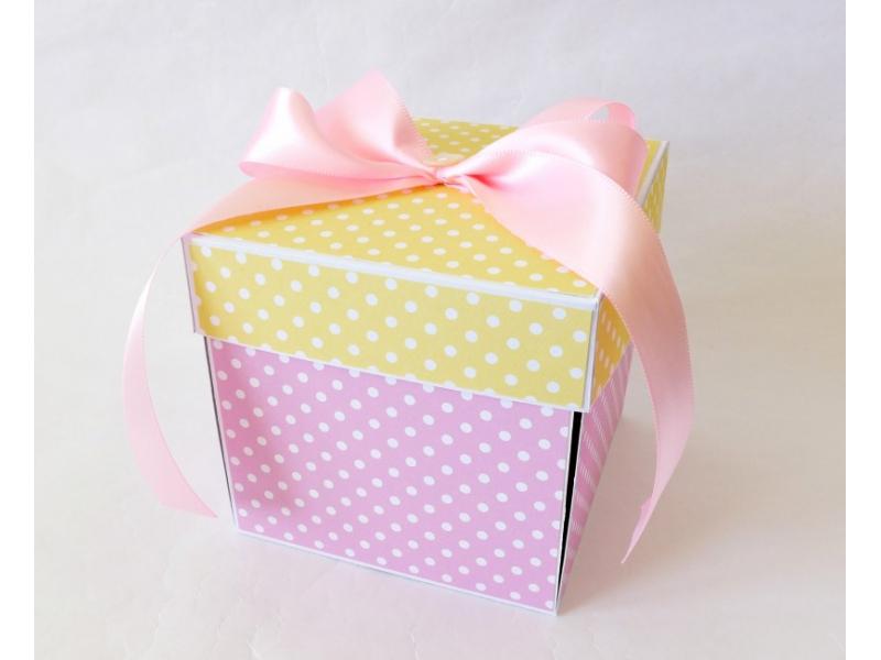 Exploding box - darčeková krabička k narodeniu dieťatka