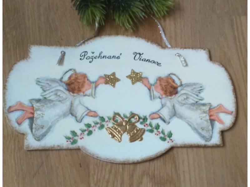 Vianoce - Anjeli s hviezdičkami