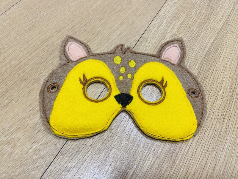 Veverička detská karnevalová maska