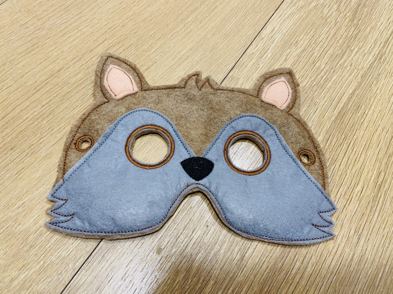 Vĺčik detská karnevalová maska