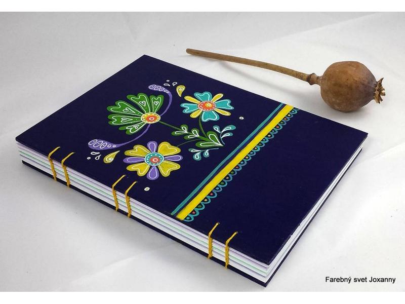 zápisník Folklórny fialový