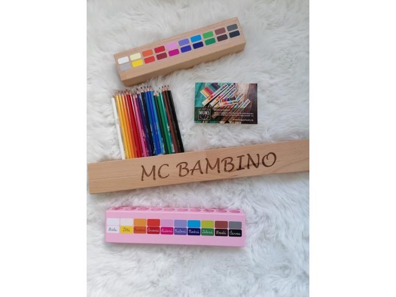Personalizovaný pastelkovník veľký -  s hľbkovým gravírovaním mena vášho dieťatka, súrodencov  alebo pekného motta