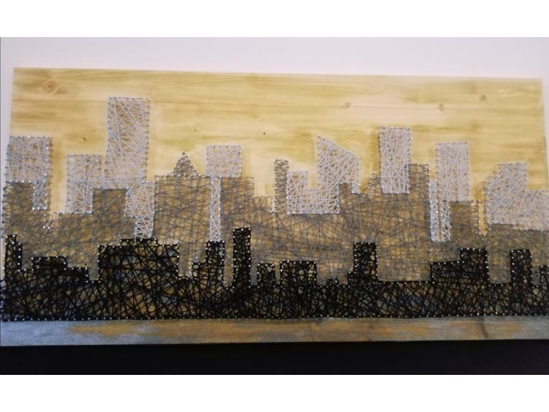City of blinding lights (string art)
