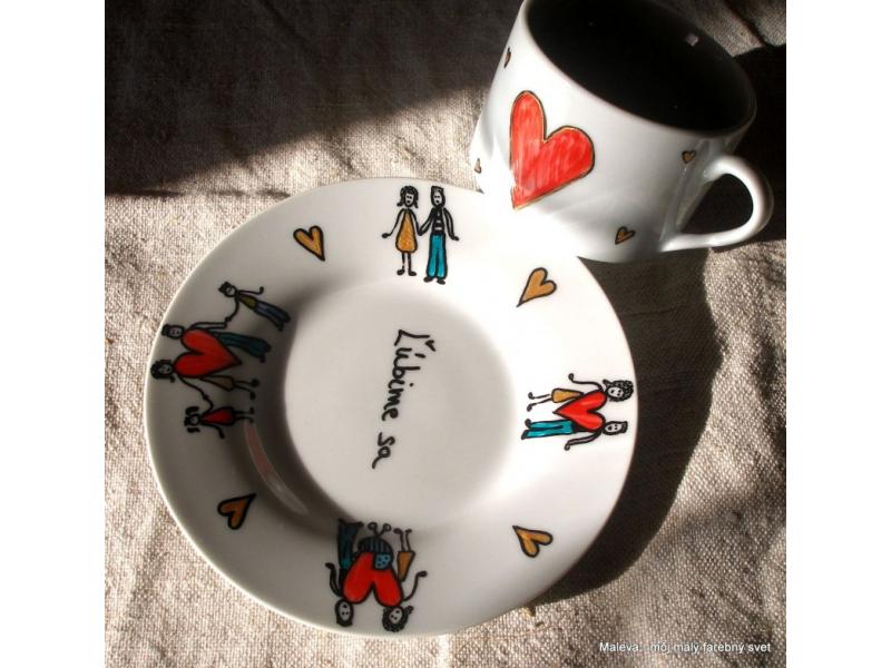 porcelánová šálka Rodina (Príbeh Lásky láskavej)
