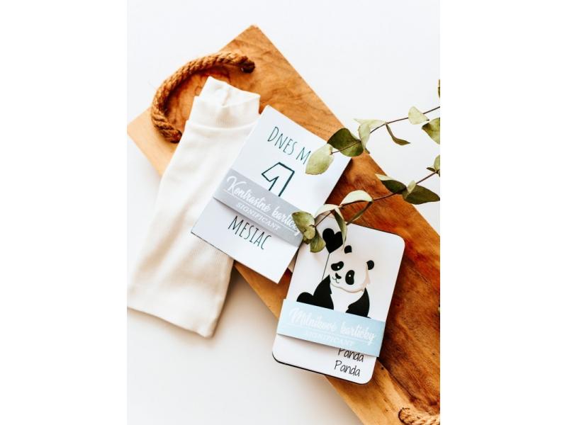 Novorodenecký balíček - míľnikové kartičky s mesiacmi + kontrastné kartičky