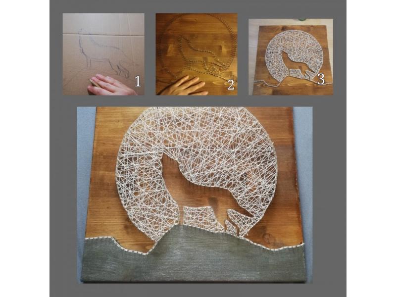 Nočný tvor (string art)