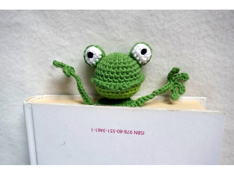 """Návod na záložku žaba """"Tiana"""""""