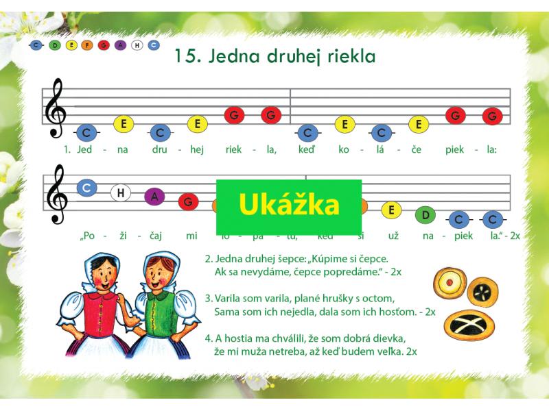 Farebné noty 3 - Ľudové piesne (klavír, xylofón)
