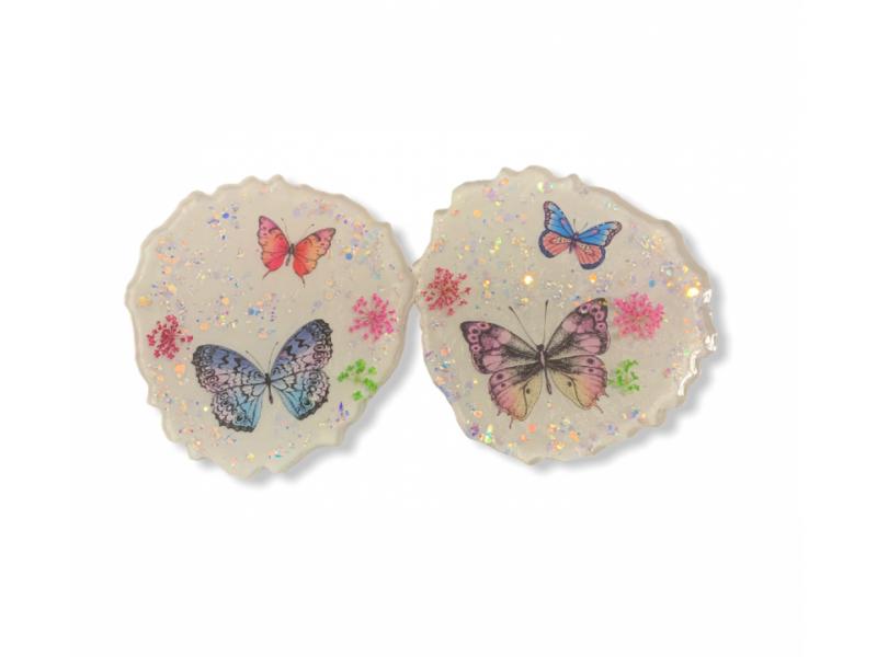 Podšálky s motýľmi