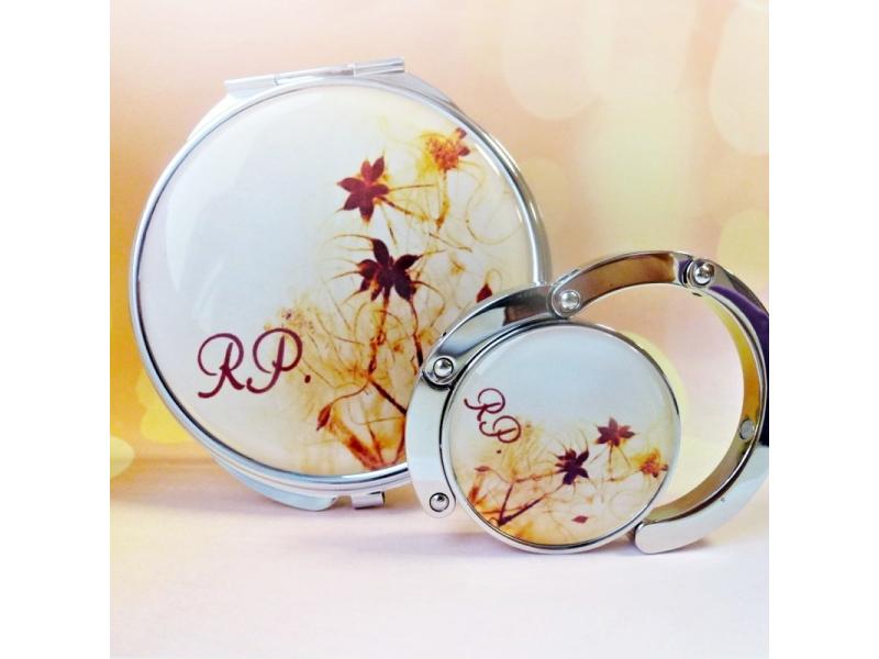 zrkadielko, vešiak na kabelku Jarné precitanie - text na želanie