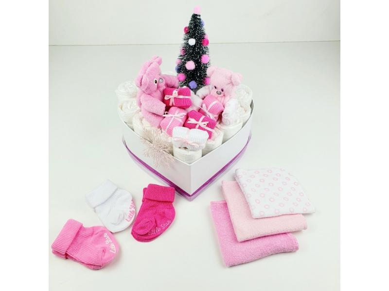 Plienková torta-box-darčeky-macko