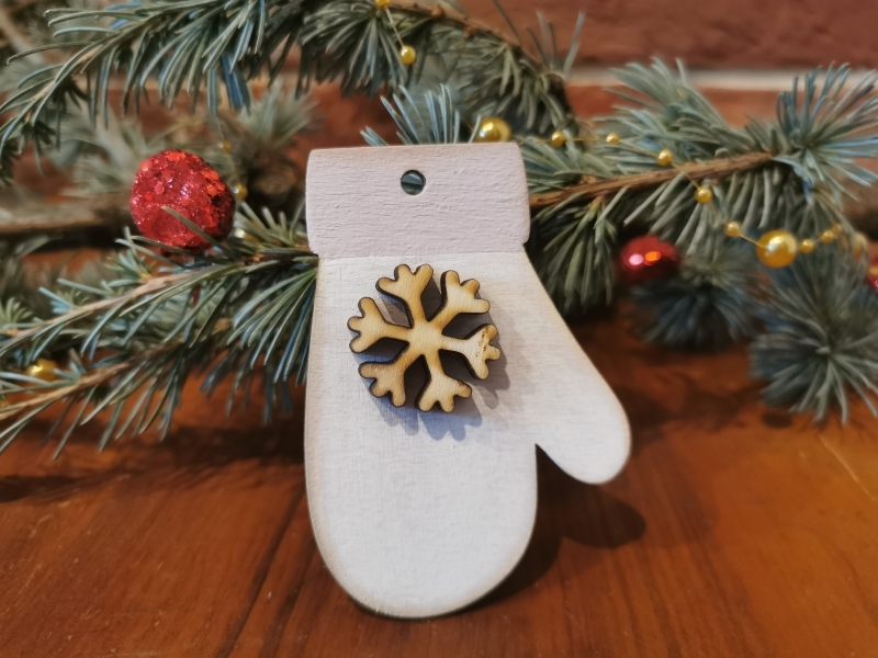 Vianočná rukavička - ozdoba na stromček