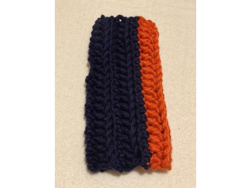 Bezprstačka - FunkyChunky - Modro - oranžová