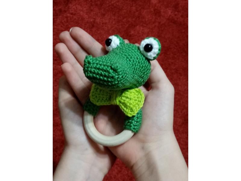 Krokodíl - hrkálka a hryzadlo