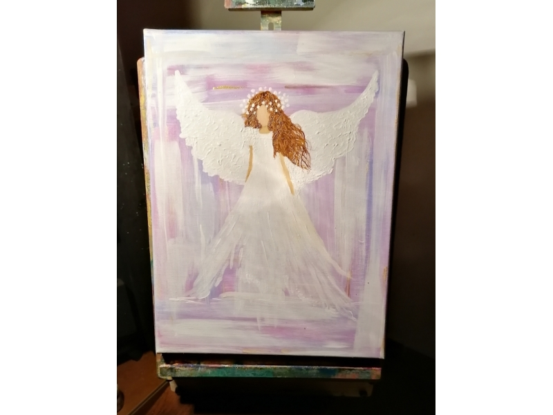 Fialový anjel