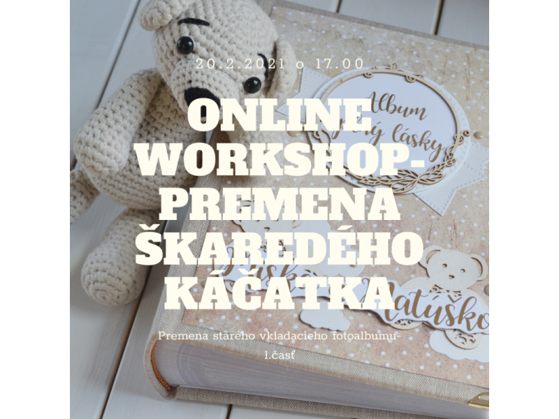 Online workshop- premena starého vkladacieho fotoalbumu- 1.časť poťah obalu albumu.