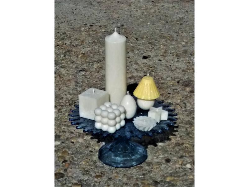 palmová sviečka Cubo