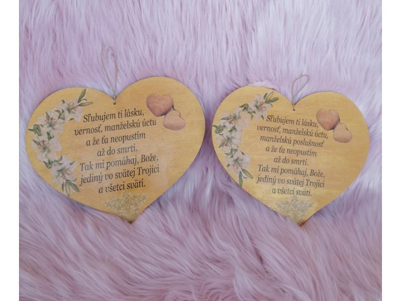 Srdcia na zavesenie,no zároveň aj na magnet - Manželský sľub