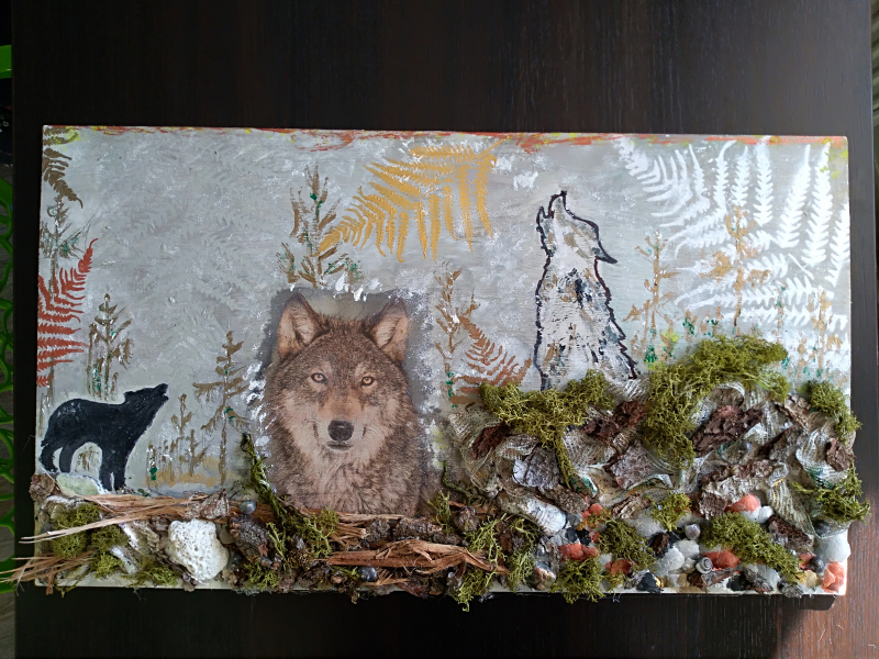 Vlk - kolaz