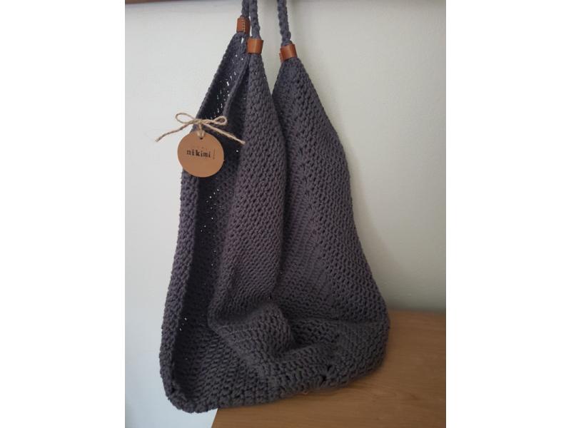hačkovaná nákupná taška