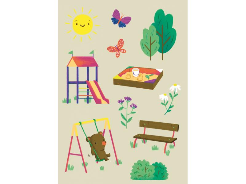 Kreatívny obrázkový kalendár - Leto 2021 - pre deti a rodičov (3 kusy)