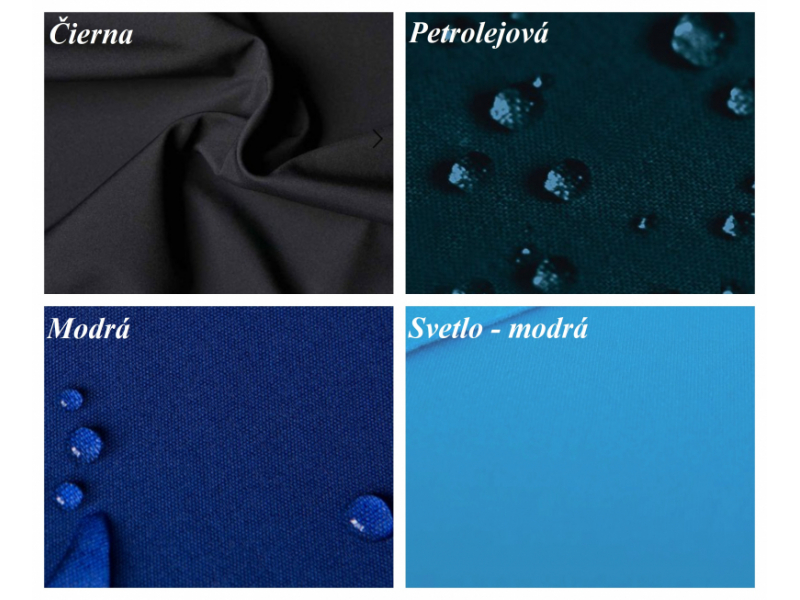 Softshellové nohavice - modré / na objednávku