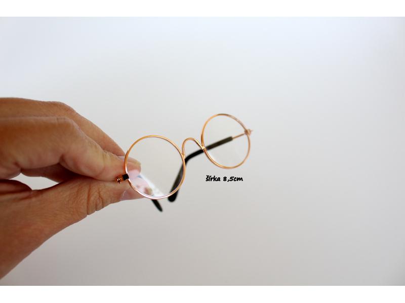 Okuliare zlaté 8,5cm