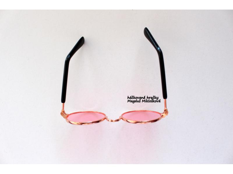 Okuliare ružové 8,5cm