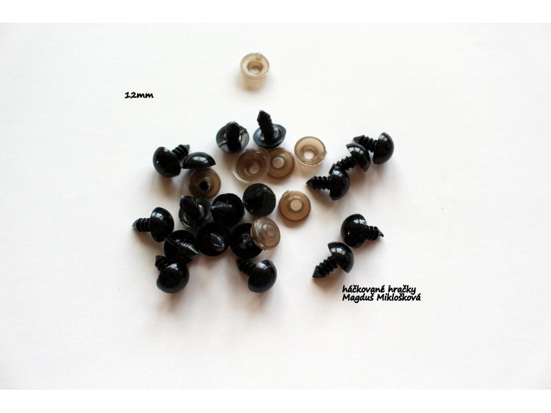 Čierne bezp.očko 12mm