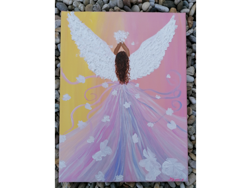 Anjel strážny ružový
