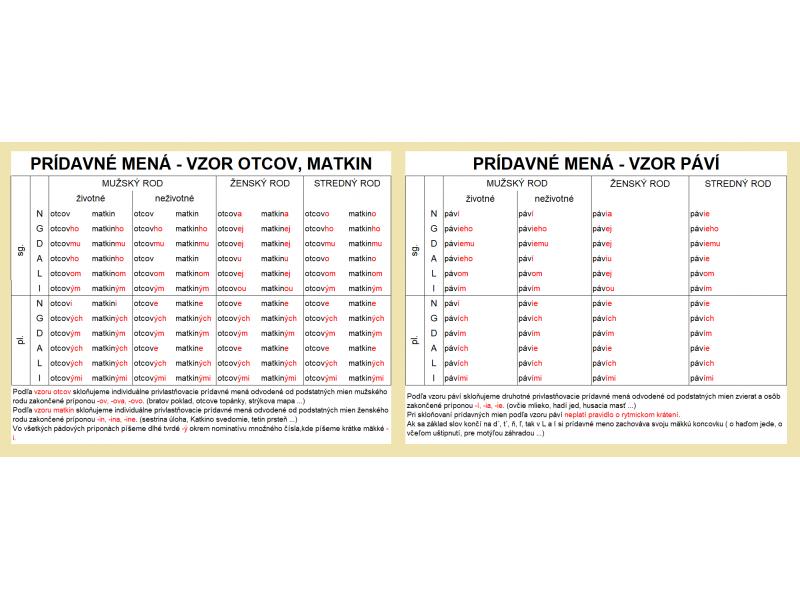 VZORY PRÍDAVNÝCH MIEN - pdf